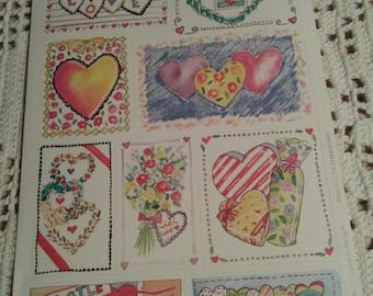 Paula Hammond Valentine Sticker Sheet #2
