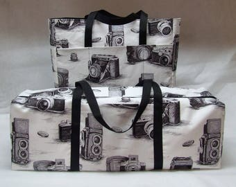 Vintage Camera Carrying Case with Accessory Bag for the Silhouette Cameo 3 / Cricut Explore Air 2 / Cricut Maker /Brother ScanNCut / Explore