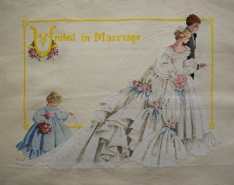 New Finished Completed Cross Stitch - Wedding - P24