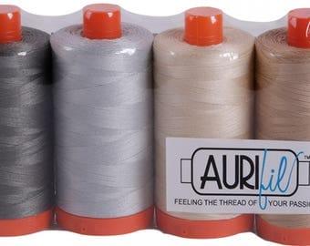 Aurifil Thread 50 wt Cotton 4 Spools - Astuccio Collection