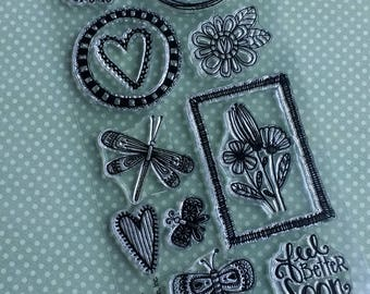 Spring Cling Stamps