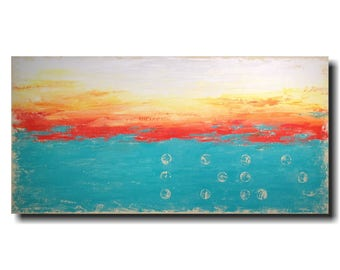 Abstract painting Jmjartstudio 24 X 48 Inches -------Beyond Words  ----- Braille LOVE wall art