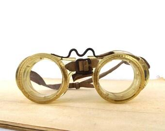 steampunk googles. safety glasses. protective eyeglasses. goggles steampunk. clear glass lens. steampunk vintage. steampunk plastic. work