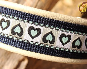 "Dog collar ""Summerfling"" by dogs-art, martingale collar, limited slip collar, dog collar, dog collar leather, leather dog collar, collars"