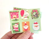Vintage Christmas Gummed Seal Stickers / Set of 30