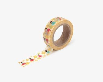 Hula printed Korean washi tape  for scrapbooking, decorations (15mm x 10m)