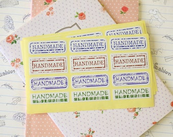 40pcs Vintage Style HANDMADE sticker labels