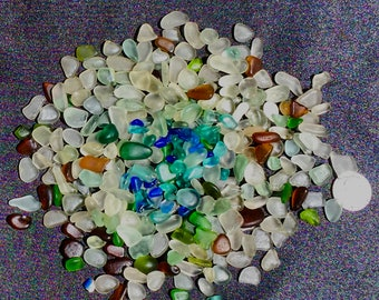 Sea Glass! Beach Glass! of Hawaii Beaches 300 COBALT! SALE! FAIRY glass Blue! Sea glass for Jewelry! Bulk Sea Glass! Sea Glass Bulk!