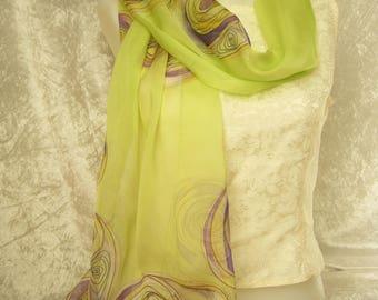 painted chiffon shawl