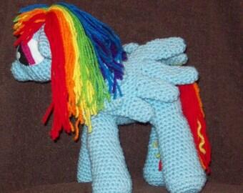 Rainbow Dash Pegasus Flying Pony Stuffed Animal Toy