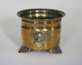 vintage brass footed planter