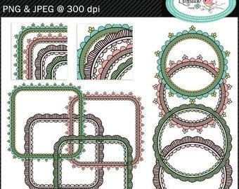 65%OFF SALE Lace frames clipart, hand drawn frames, hand drawn photo frames, frame clipart, digital frame, P351