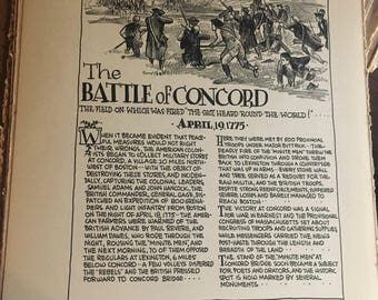 Great moments in history book page The battle of Concord April 1775