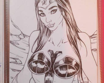 Ink WonderWoman russian by boo rudetoons comic JusticeLeague DC batman