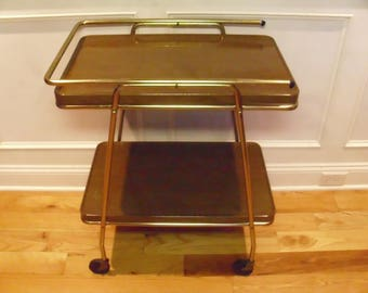 Vintage 1950's/1960's  Cosco 2 Tiered Rolling Cart w/Extendable Top