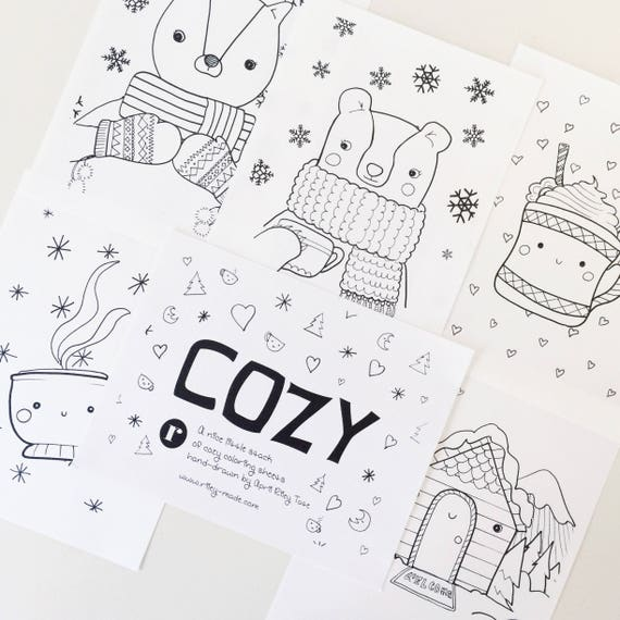 Coloring Sheet Set - Cozy Series