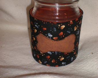 Candle Cozy Quilted Cotton Candle Wrap Jar Candle Surround Dog Bone