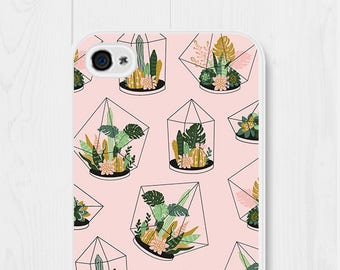 iPhone 8 Case Cactus iPhone SE Case Gift iPhone 7 Case Cute iPhone 6 Case Succulent Samsung Galaxy S7 Case Pink iPhone 5 Case Cute