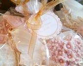 45 Butterfly, Heart and Flower Soap Favors - Bridal Shower Favor, Wedding Favor, Baby Shower Favor - Vegan Heart Soaps