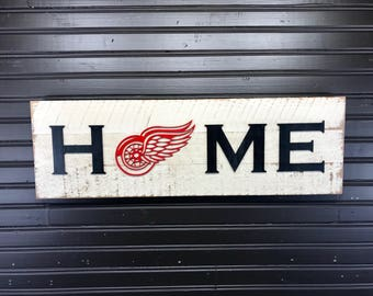 Detroit Red Wings HOME plaque, sign