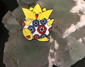 Togepi Seed of Life Pin - Pokemon pin Sacred Geometry Pin Hat Pin Lapel Pin pokemon hatpin togepi geometry hatpin flower of life pin