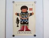 Ib Antoni travel poster Greenland Denmark Scandinavian retro vintage 1960s print