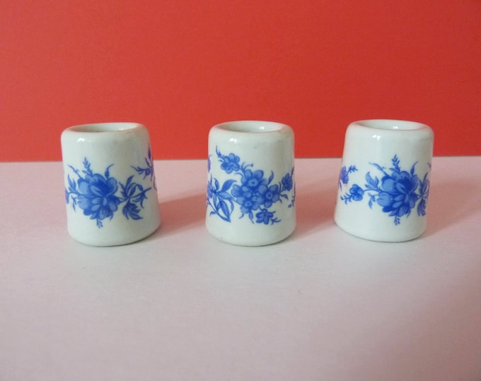 3 x mini candle stick holders