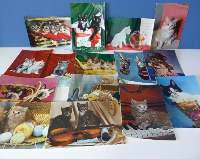 Vintage cat postcards