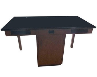 ON SALE Industrial/Lab Table from Chemistry Lab in Midwestern High School, Two Drawers