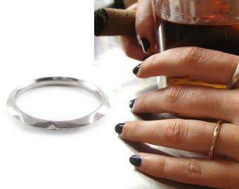 Small knife edge commitment ring | platinum commitment band | knife edge commitment band | commitment ring | commitment ring mens