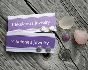 New! Silver Nuggets ... post earrings  .. sterling silver contemporary Artisan Jewelry earrings modern minimal organic EARRINGS by Mikelene