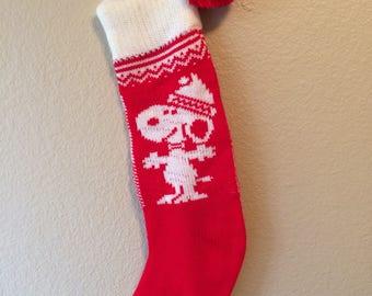 Vintage retro Snoopy Peanuts Hallmark Christmas stocking Kansas City, Missouri
