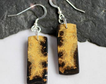 Natures Sketches  - Chohua Jasper Sterling Silver Earrings