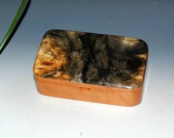 Handmade Wood Treasure Box - Cherry with Buckeye Burl - Jewelry Box, Trinket Box, Gift Presentation Box, Wooden Box, Keepsake Box, Wood Box