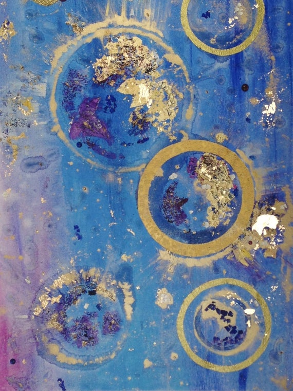 Blue & Pink Abstract Print