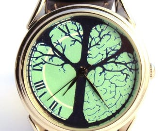 ON SALE 25% OFF Watch Tree of Life, new handmade watch Gender unisex turquoise
