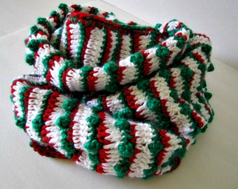 Crochet Christmas Candy Scarf Today, 72 inches (1.83m) approximately, ePDF Pattern