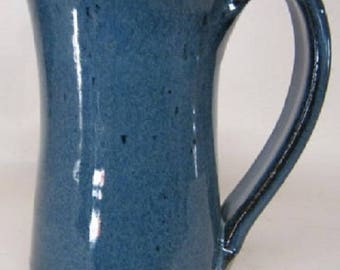Traditions Pottery Handmade Tall Rimmed Coffee Mug for tea, hot and cold liquids