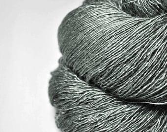Aged olive - Tussah Silk Fingering Yarn
