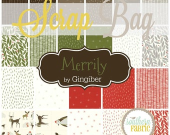 Merrily - Scrap Bag Quilt Fabric Strips by Gingerber for Moda