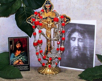 Chaplet of the Holy Face - Holy Face Catholic Chaplet - Holy Face Catholic Rosary - Shroud of Turin Rosary