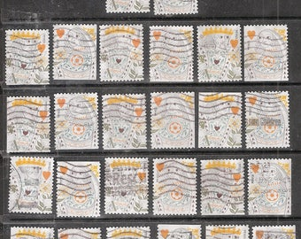 26 LOVE King and Queen of Hearts  Used & Cancelled U.S. 44c Postage Stamps (13 King, 13 Queen)