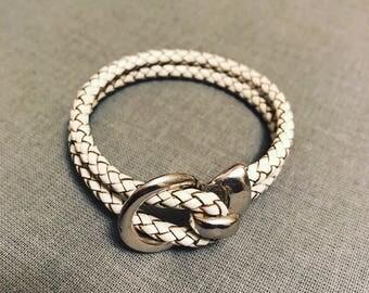 Roped in Leather Bracelet