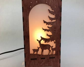 Lantern with Nature Scenes, Animals, Home Decor, Lighting