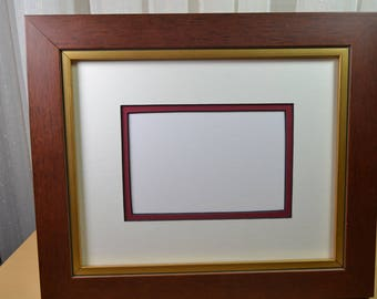 Picture Frame - Mahogany & Gold Photo Frame - Wood Picture Frame