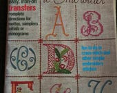 1976 McCall's Alphabets to embroider paperback easy iron on transfers
