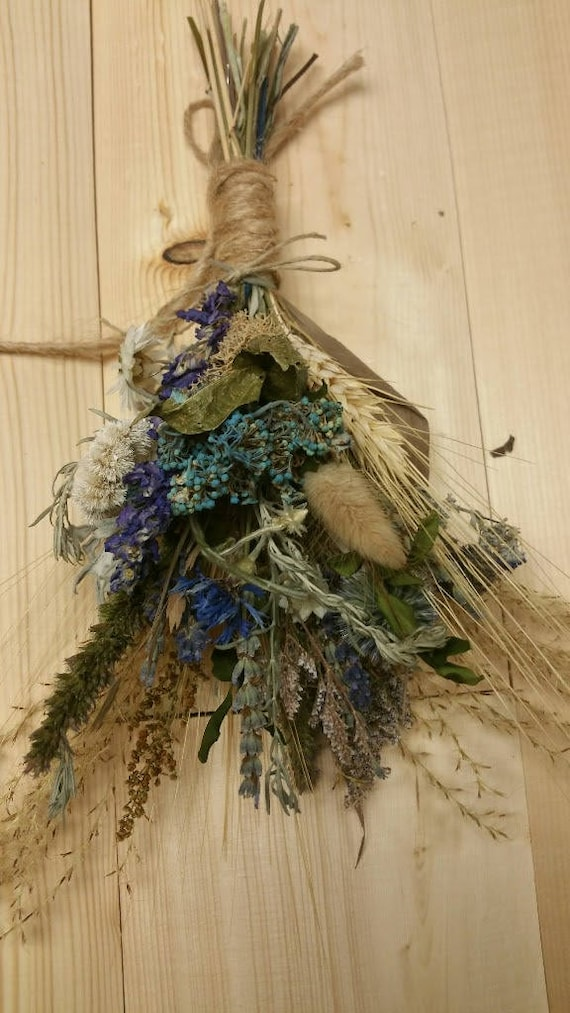 Blue Belle Dried Small Floral Bouquet Ornament