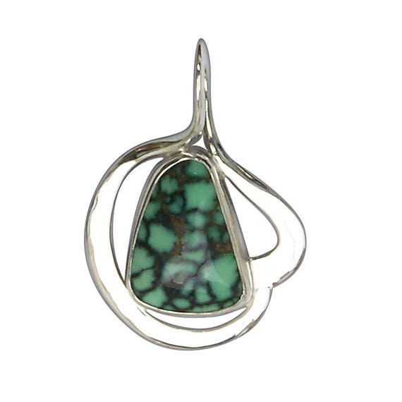 Damele SpiderwebTurquoise and Sterling Silver Pendant  pturf2913