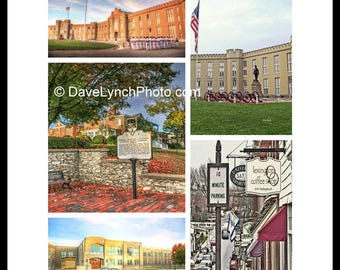 Lexington Virginia VA - VMI Collage- Barracks - Virginia Military Institute - Stonewall Jackson - Art Photography prints by Dave Lynch