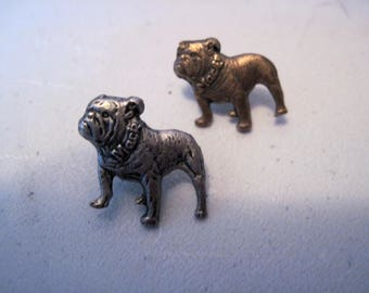 Pair of Vintage Mack Truck Bulldog pins